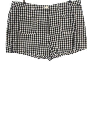 Asos Hot Pants weiß-schwarz Karomuster Casual-Look