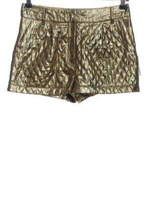Asos Hot Pants goldfarben Steppmuster Glanz-Optik