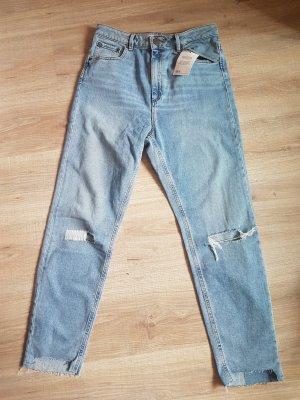 Asos Jeans taille haute noir-gris