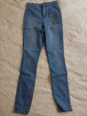 Asos Denim Dopasowane jeansy błękitny-chabrowy