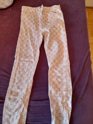 Asos Jeansy o obcisłym kroju biały-różowy