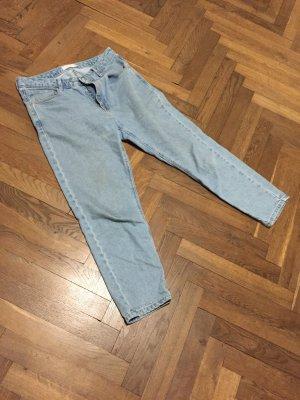 Asos Jeans boyfriend bleu azur coton