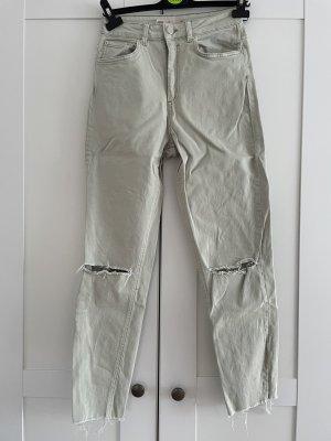 Asos Denim High Waist Jeans sage green