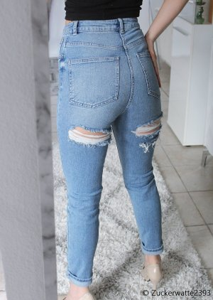 Asos Jeans High Waist Ripped Ass 34/XS
