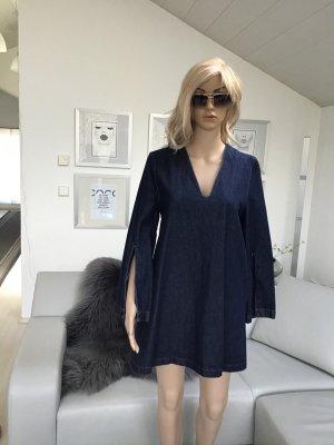 Asos Vestido tipo túnica azul oscuro Algodón