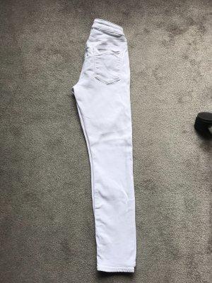 Asos Denim Skinny jeans wit-zilver