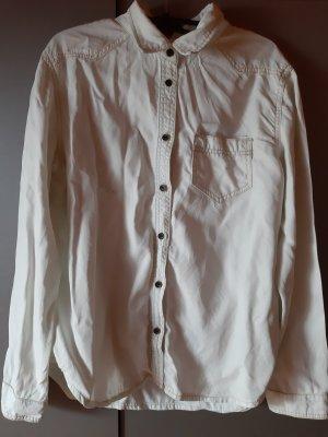 Asos Denim Chemise en jean blanc cassé