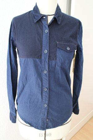 Asos Chemise en jean bleu foncé coton