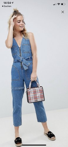 Asos Denim Bib Denim cornflower blue
