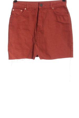 Asos Jeansowa spódnica czerwony W stylu casual