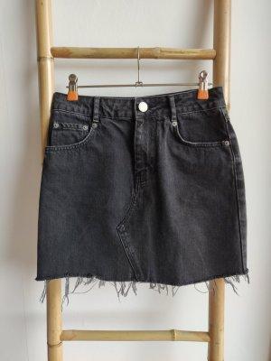 Asos Denim Jupe en jeans noir-gris foncé coton