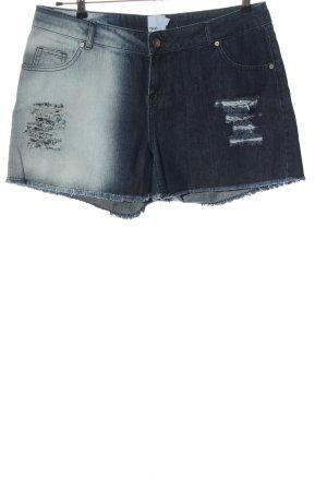 Asos Pantalón corto de tela vaquera azul-blanco look casual