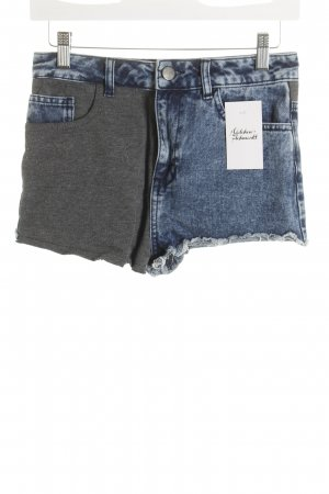 Asos Pantaloncino di jeans grigio-blu acciaio stile casual