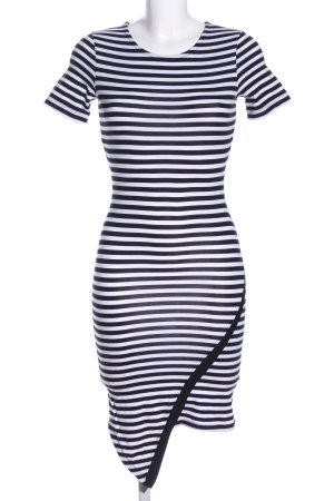Asos Jerseykleid schwarz-weiß Streifenmuster Casual-Look