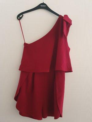 Asos One Shoulder Shirt dark red-carmine