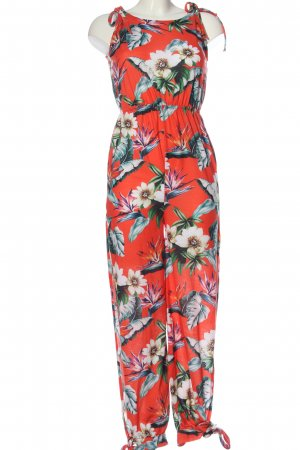 Asos Jumpsuit rot-weiß Blumenmuster Casual-Look