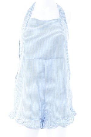 Asos Jumpsuit weiß-kornblumenblau Streifenmuster