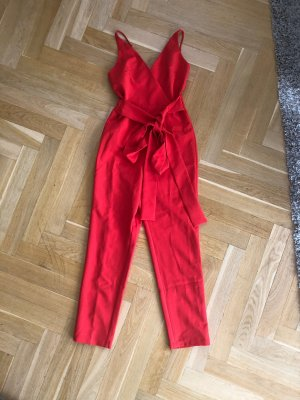ASOS Jumpsuit XS 32 Rot Overall
