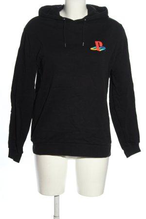 Asos Kapuzensweatshirt schwarz Motivdruck Elegant