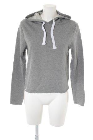 Asos Kapuzensweatshirt grau-weiß Casual-Look