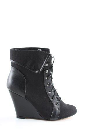 Asos Keil-Stiefeletten schwarz Elegant