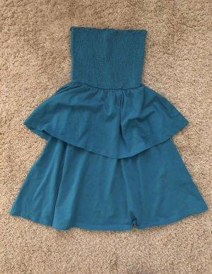 Asos Bandeau Dress blue