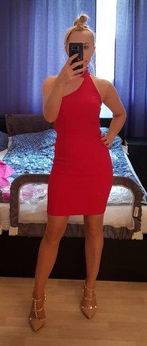 Asos Petite One Shoulder Dress red