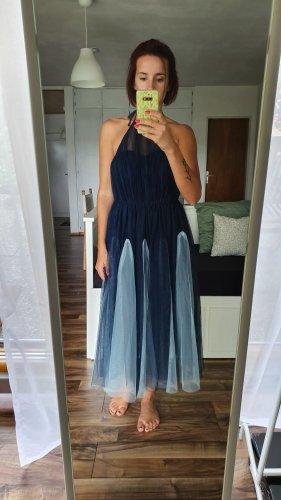 Asos Sukienka z dekoltem typu halter niebieski-błękitny