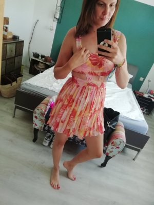 Asos Kleid Cutouts Sommer Chiffon Strandkleid Minikleid