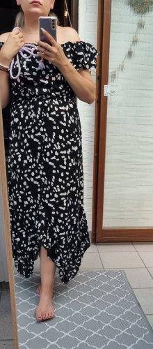 Asos Sukienka bez ramiączek biały-czarny