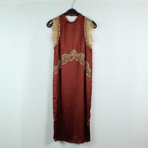 ASOS Kleid Gr. 34 rot beige (20/02/477)
