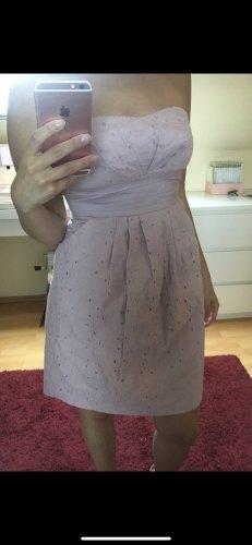 Asos Sukienka z dekoltem typu bandeau w kolorze różowego złota