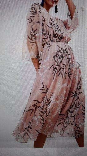 ASOS Kleid Midi Rosa Floral Print UK10 Gr.38 Neu mit Etikett