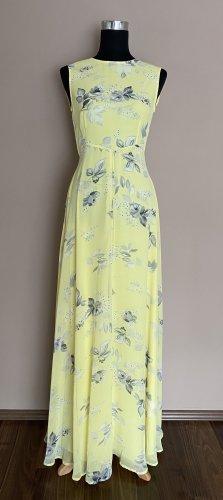 Asos Sukienka maxi bladożółty-jasnoszary