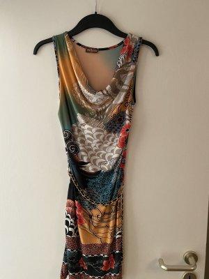 Asos Kleid Remak Paris Gr. 36 Kettengürtel Muster Wasserfall Ausschnitt