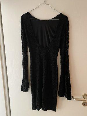Asos Kleid Spitzenkleid Rückenausschnitt Trompetenärmel Gr. 34