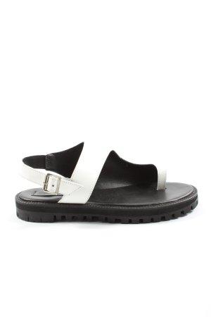 Asos Comfortabele sandalen zwart-wit casual uitstraling