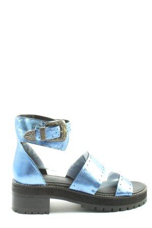 Asos Sandalo comodo blu-nero stile casual