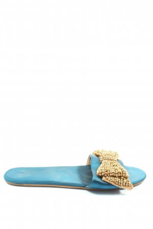 Asos Comfort Sandals blue-gold-colored casual look