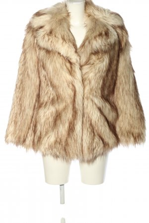 Asos Fake Fur Jacket cream-brown casual look