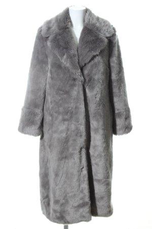Asos Cappotto in eco pelliccia grigio chiaro stile casual