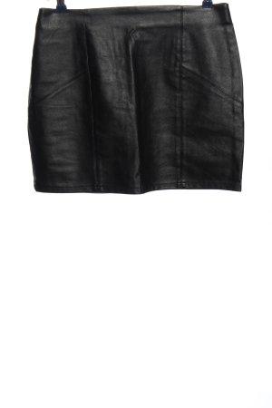Asos Jupe en cuir synthétique noir style décontracté