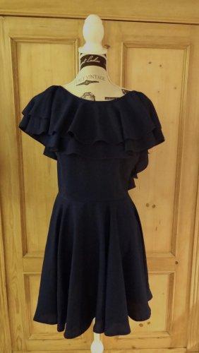 Asos -Kurzärmeliges Kleid mit Schulter-Volants und sexy Rückenausschnitt