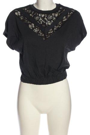 Asos Kurzarm-Bluse schwarz Elegant