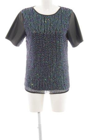 Asos Kurzarm-Bluse schwarz extravaganter Stil