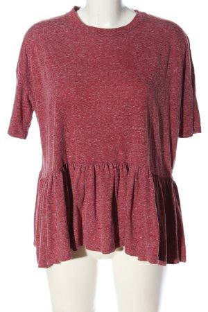 Asos Kurzarm-Bluse rot meliert Casual-Look