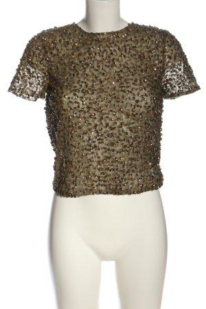 Asos Transparent Blouse khaki-brown glittery