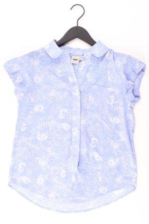 Asos Kurzarmbluse Größe 34 blau aus Polyester