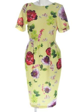 Asos Sukienka z krótkim rękawem czerwony-zielony Na całej powierzchni