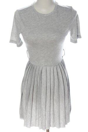 Asos Shortsleeve Dress light grey flecked casual look